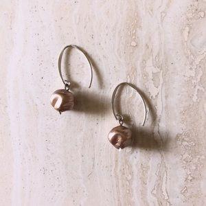 Chrome Pearl Earrings